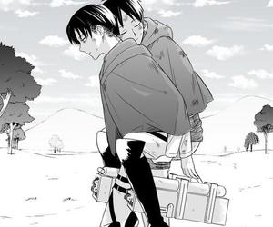 ereri, anime, and levi image