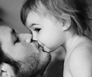 baby boy, bearded, and kiss image