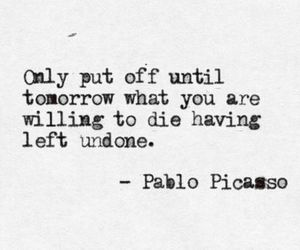 die, life, and Pablo Picasso image