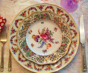china, flower, and girly image