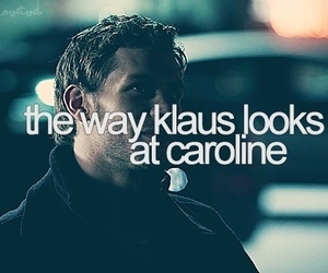 klaus, love, and tvd image