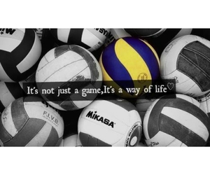 volleyball and quote image