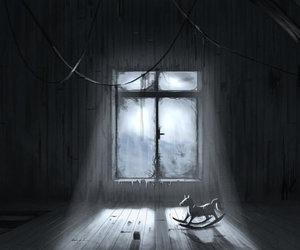 abandoned, black, and creepy image