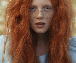 girl, ginger, and redhead image
