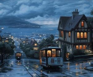 city, night, and san francisco image
