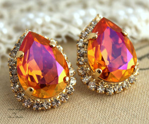 autumn, crystal, and earrings image