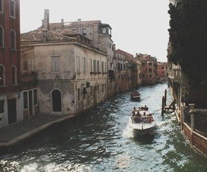 venice, vintage, and travel image
