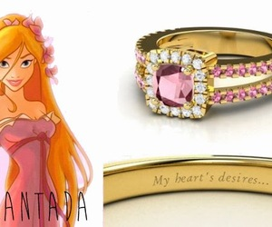 ring, disney, and princess image