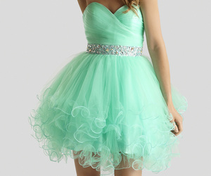 cocktail dress, dress, and mint image