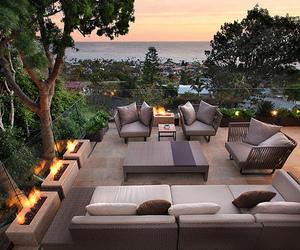 backyard, garden, and trees image