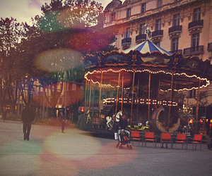 carrousel, city, and hiver image