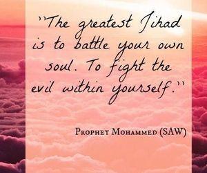 islam, jihad, and prophet muhammad image