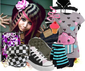 scene queen, scene clothing, and emo clothing image