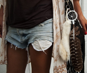 dream catcher, shorts, and vintage image