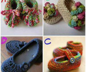 baby, crochet, and shoes image