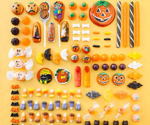 candy and Halloween image