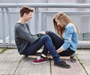 couple, shoes, and vans image