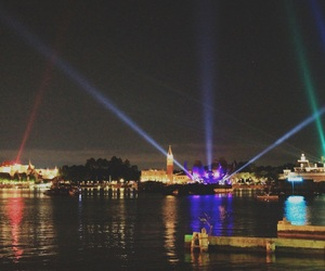 disney, water, and lights image