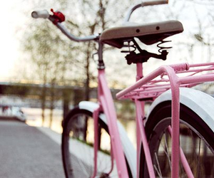 bike, pink, and bicycle image