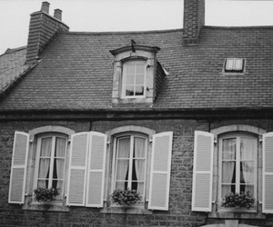 vintage, house, and flowers image