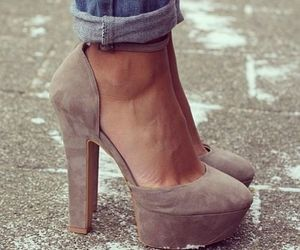 heels, Nude, and shoes image