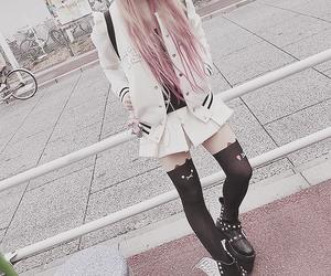 kawaii, hair, and pink image