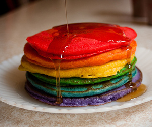 pancakes, colors, and delicious image