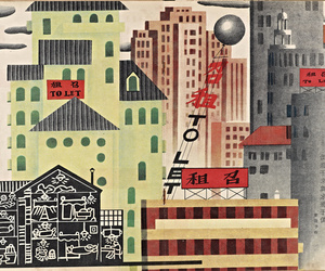buildings and illustration image