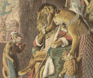 illustration, king, and monkey image