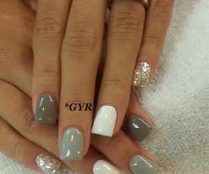 gray, nail, and nice image
