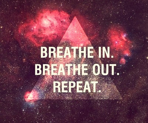 galaxy, breathe, and quote image
