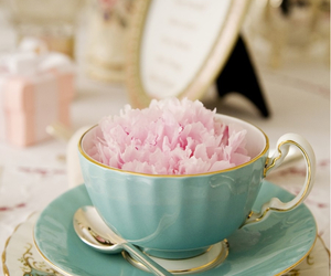 flowers, cup, and pink image