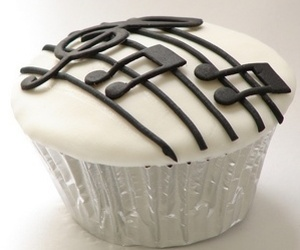 cupcake, music, and food image