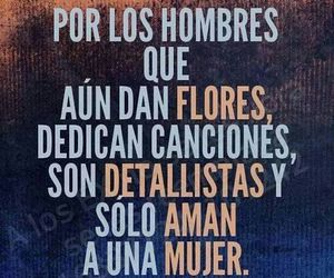 love, hombres, and flores image
