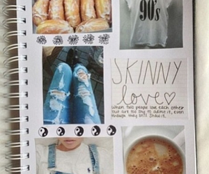 notebook, tumblr, and jeans image