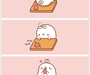 love, kawaii, and molang image