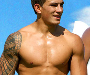 abs, Hot, and rugby player image