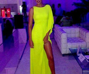 dress, neon, and sexy image