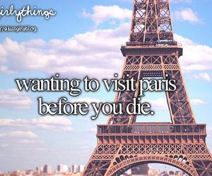 paris, just girly things, and visit image