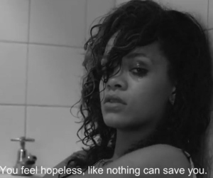 rihanna, hopeless, and quote image