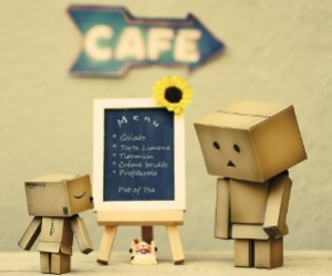 danbo, cute, and cafe image