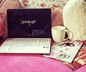gossip girl, pink, and coffee image