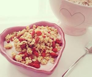 strawberry, breakfast, and cereal image