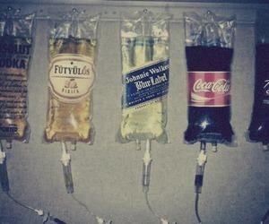 drink, vodka, and coca cola image