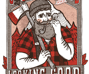 drawing, hipster, and lumberjack image