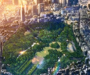 anime, garden of words, and city image
