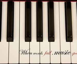 black, piano, and when image
