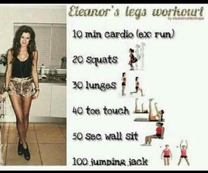 workout, legs, and eleanor calder image