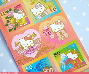 hello kitty and stamps image