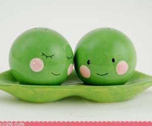 peas, cute, and pea pod image